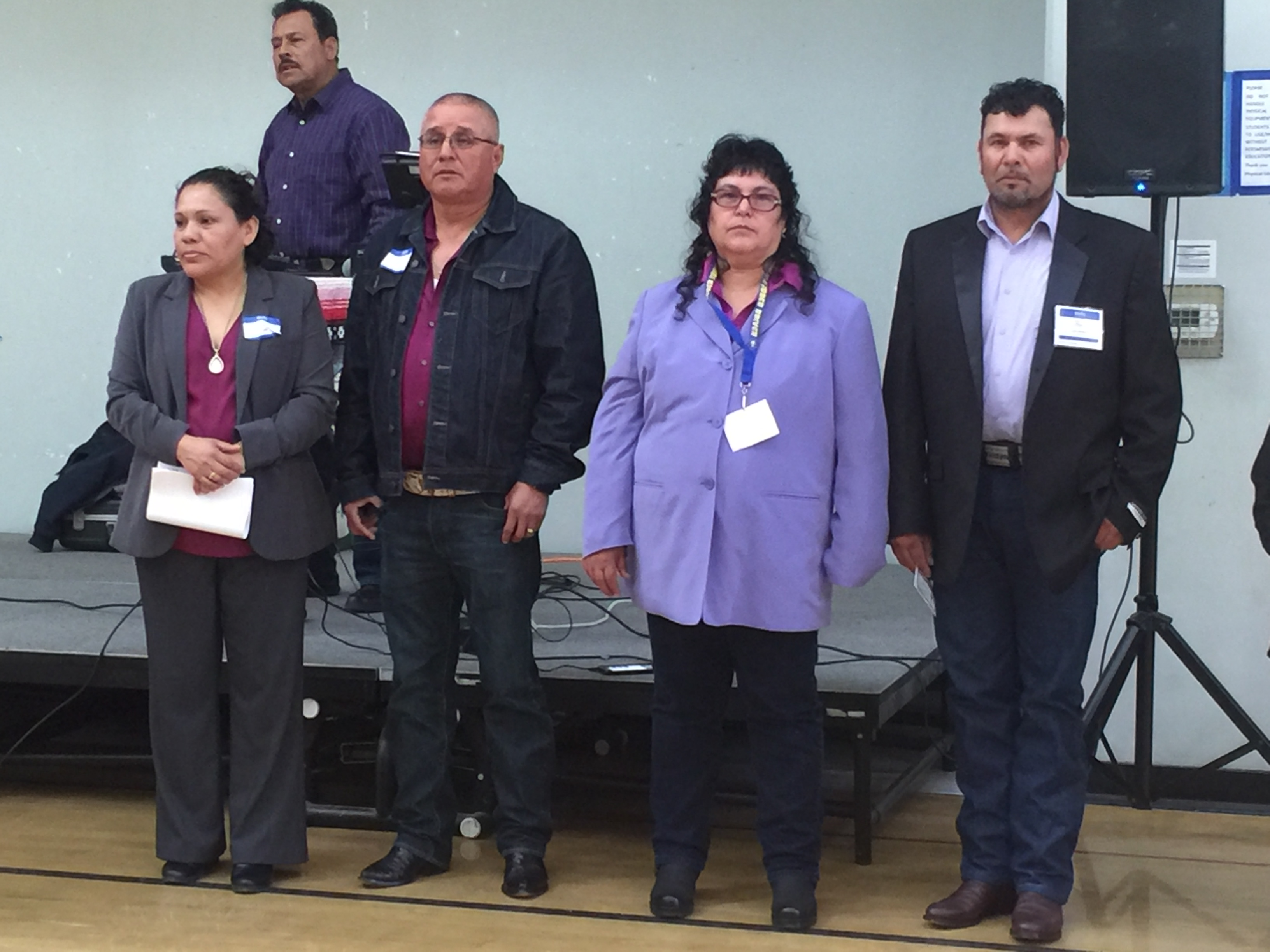 Parents who put on conference and who's kids we serve. From left to right Rosa, Jose, Rosie, & Leonel.
