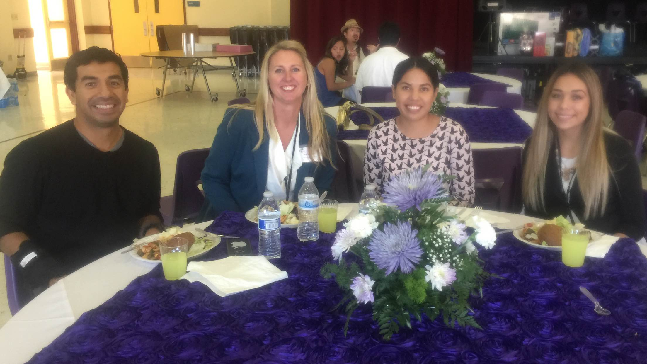 Our CLM Team during lunch time: Ismael Mondragon, Nancy Kelley, Marlene Ibarra, and Grisel Ibarra.